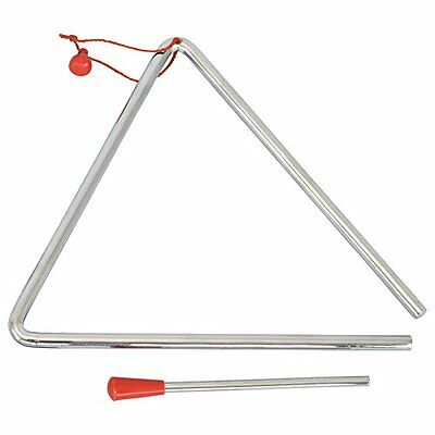 "Musical TRIANGLE & BEATER metal 6""  8"" school percussion instrument UK SELLER"