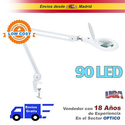 Lupa Flexo + 5 Dioptria Con 90 Led