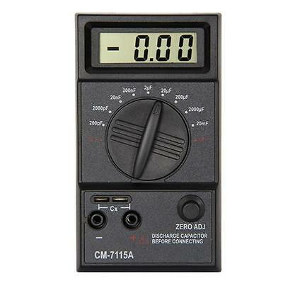 Digital 20mF-200pF Capacitance Meter LCD Screen Capacitor with Testing Leads