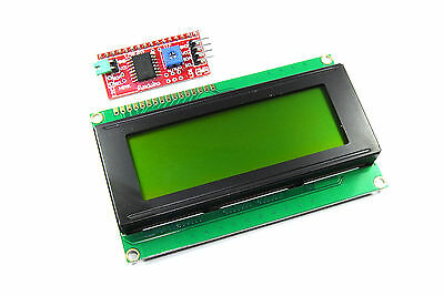 20x4 Green LCD with Funduino I2C Interface MB-063 2004A HD44780 Flux Workshop