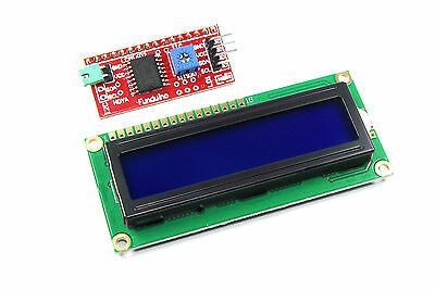 16x2 Blue LCD with Funduino I2C Interface MB-063 1602 HD44780 Flux Workshop