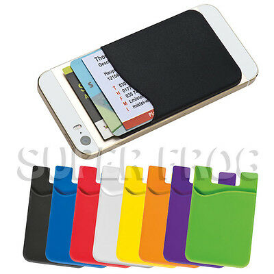Slim Silicone Stick On Credit Debit Card Slot Cover Various Mobile Smartphone