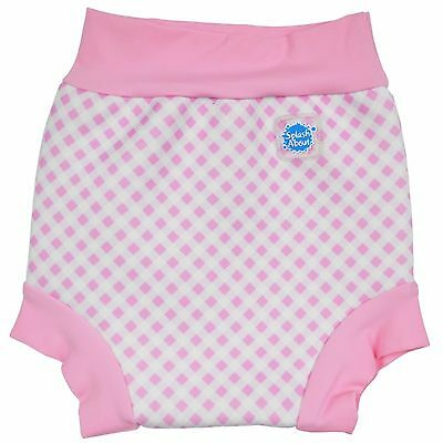 Baby Girl Splash About Happy Nappy Medium 3-6 Months Pink Gingham Swimming Pants