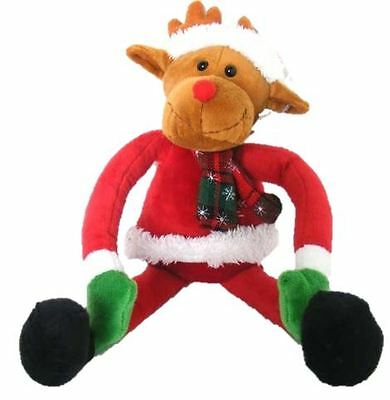 Reindeer Hanging Xmas Toy Long Hand Kids Christmas Decor Play Soft Gift Festive