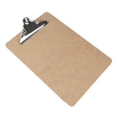 10 x Wooden A4 Wood Clipboard Hardboard With Strong Chrome Clip & Hanging Hook
