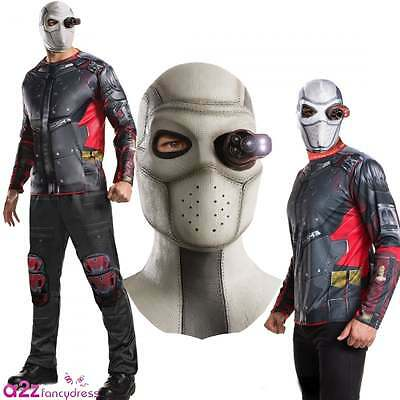 New Suicide Squad Deadshot Mask Mens Adult Halloween Fancy Dress Costume Outfit