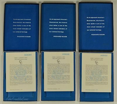 "Lot of 3 GSA Empty Boxes with COA'S ""NO COINS"" /Q-157"
