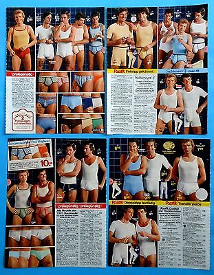 Men's Underwear Pajamas Catalog Clippings 9 pages Ad print from  1979
