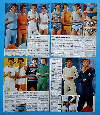 Men's Underwear Pajamas Catalog Clippings 9 pages Ad print from  1976 - 1977