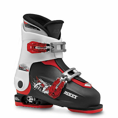 Roces Idea Free Adjustable Ski Boots for Kids Black/White/Red New 19.0-22.0