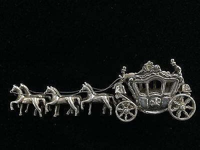 Dutch Silver Miniature Six Horses Drawn Coronation Wagon