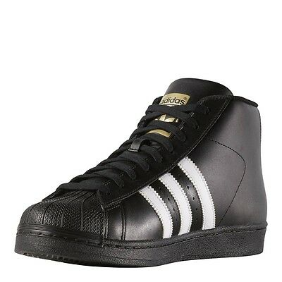 low priced bbd09 5b9be Adidas Originals Pro Model Black White Sneakers Youth Big Kids Sizes NEW