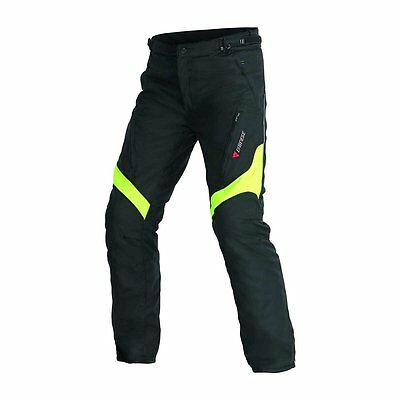 NEW DAINESE Tempest D-Dry Pants SIZE 52 MENS Black/Fluo Yellow