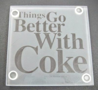 Coca-Cola Frosted Glass Coasters - SET OF 4