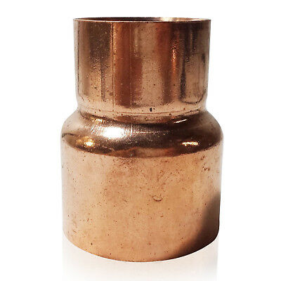 "2"" x 1-1/2"" Coupling Reducer C x C Sweat Ends COPPER PIPE FITTING"