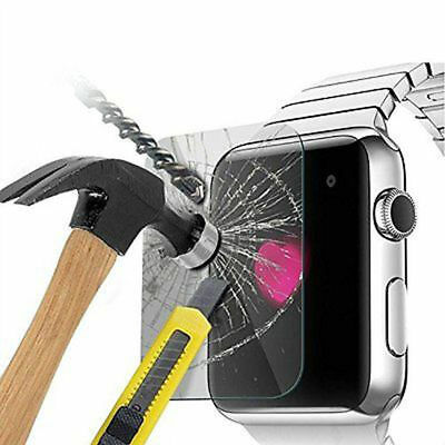 3X 38mm 42mm Tempered Glass Screen Protectors for Apple Watch Front Cover iWatch