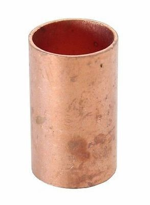 "3/4"" Coupling No Stop C x C Sweat Ends (BAG OF 10) - COPPER PIPE FITTING"