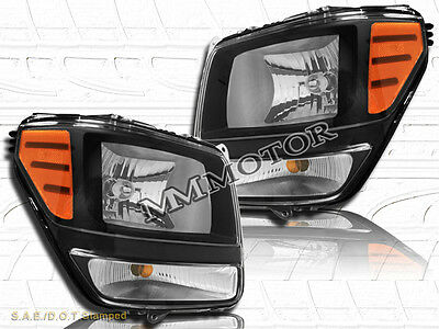 07-11 Dodge Nitro OE Replacement Headlights Black Housing w/Clear Lens