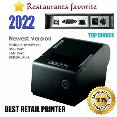 "PBM POS P-822D 3 1/8"" Thermal Receipt USB SERIAL Ethernet Printer-SHIP SAME DAY*"