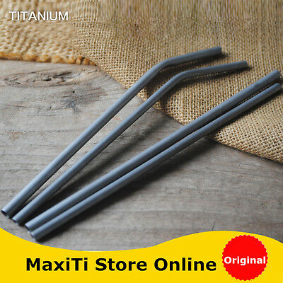 MaxiTi pure titanium drinking straw flatware tube bush cutlery picnic outdoor