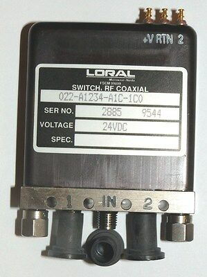 Rf Relay Sma 1P2T 24Vdc Latch Terminate Ind - Loral 022-A1234-A1C-1C0 - *unused*