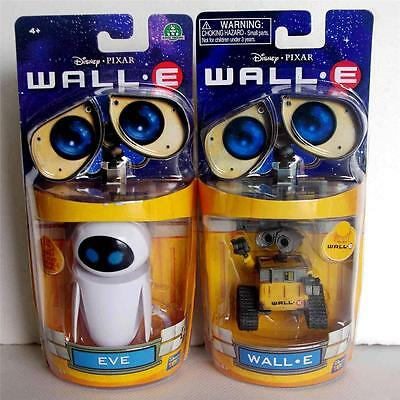 Disney Pixar Wall-E and Eee-Vah EVE Action Figures Thinkway Toys