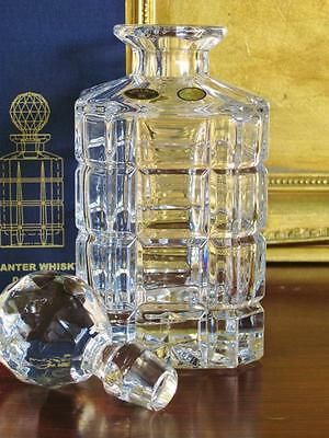 Boxed Contemporary Bohemia crystal spirit decanter. Heavy cut crystal. NEW