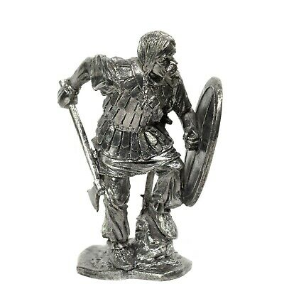 "Tin Toy SOLDIER 54mm CELTIC Warrior & BARBARIAN Axe CELTS 1/32"" Metal Tin Figure"