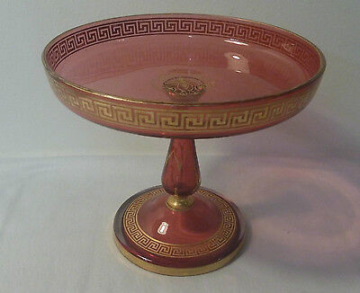"Ruby glass ""tazza"" comport"