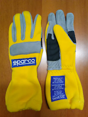 Guanti Kart Sparco Superkart Bimbo Tg 5 Yellow Gloves Karting Children Size 5