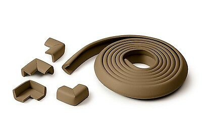 Prince Lionheart Cushiony Table Edge Baby Safety Guard + 4 Corners - Chocolate