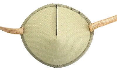 Eye Patch, BEIGE Soft and Washable for Left or Right Eye