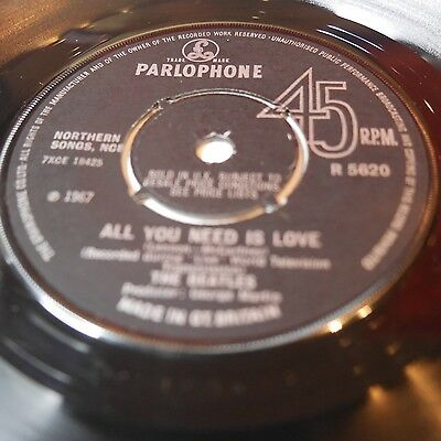 The Beatles All You Need Is Love Uk Original R5620 Excellent Condition 45