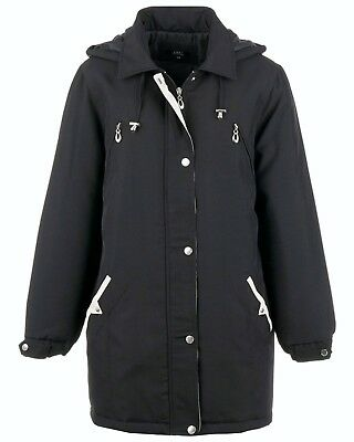 Womens Ladies Thick Padded Warm Hooded Winter Coat Jacket Size 10-24