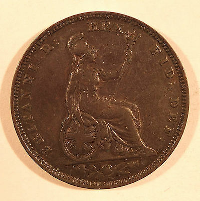1829 George Iv Farthing Nice Grade Coin ( 4000A)