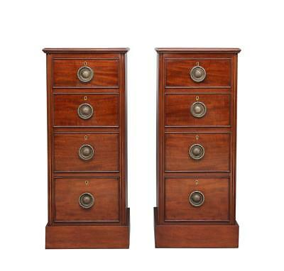 Pair Of Early 20Th Century Mahogany Bedside Chests Cabinets