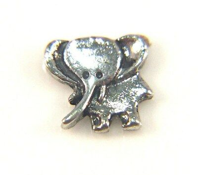 Floating Charms For Living Memory Locket Pendant Silver Elephant 8mm