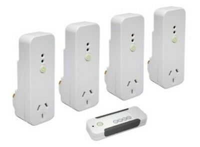 Electricity Energy Monitor Sockets Efergy Remote Controlled Standby Saver with 4