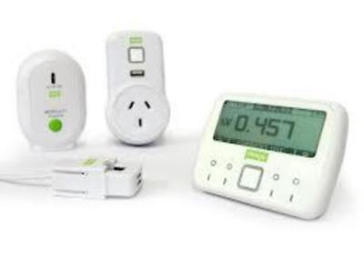 Electricity Energy Monitor Sockets Efergy Ecotouch Energy Management System - ME