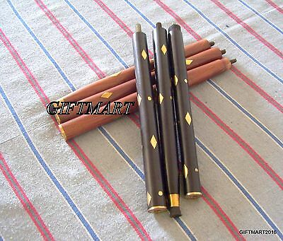 Without Handle Brass & Wood Black & Red Brass Small - Small Design On The Stick