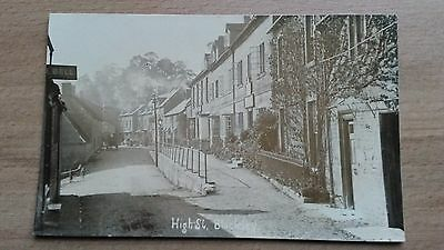 Blockley High Street : Unmade Road And Horse Traffic