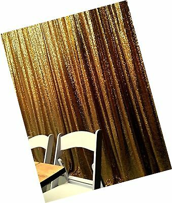 Gold Shimmer Sequin Fabric Photography Backdrop (4FTX6FT) 4FTX6FT