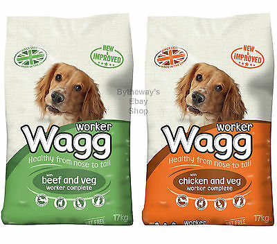 Wagg Complete Worker Dry Mix Dog Food 17kg *BRAND NEW*