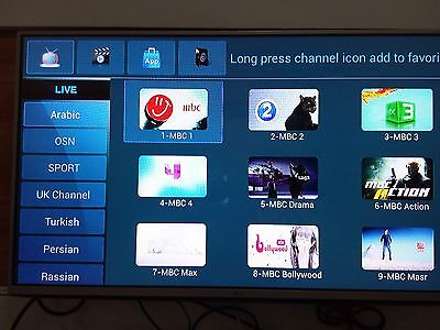 IPTV Channel subscription only - 1000+ Arabic,Sport,Turkish,Iranian, (3months).