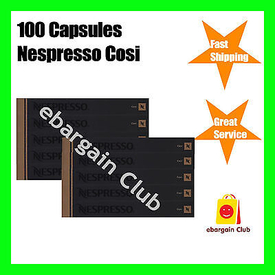 100 Capsules Nespresso Coffee Cosi Luxury Espresso Pod Express Post