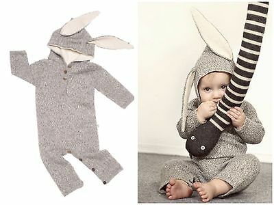 Oeuf Nyc Animal Donkey Grey Alpaca Wool Romper Jumper Playsuit Size 12 Months