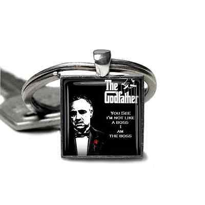 Godfather Keyring Marlon Brando Godfather Keyfob Mens Gift Handmade in the UK