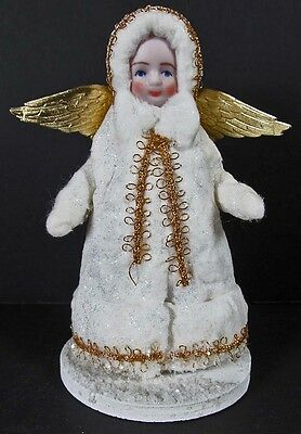 """Christmas 60077 Angel 4"""" Limited 12/50 Elaine Roesle Signed Snow Children 1994"""