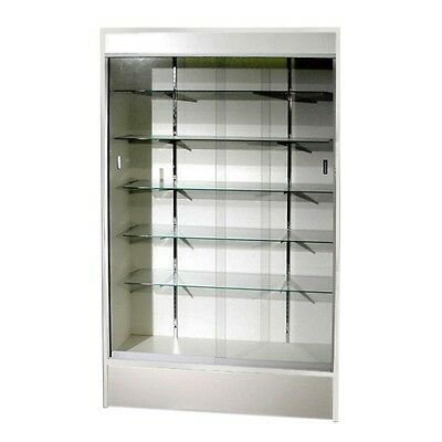 "Trophy Case, Glass Display Case, 48"" Long x 78"" Tall White, #WC4W"