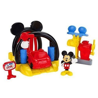 Disney Mickey Mouse Clubhouse Soap 'n Suds Car Wash With Mickey Playset Figure